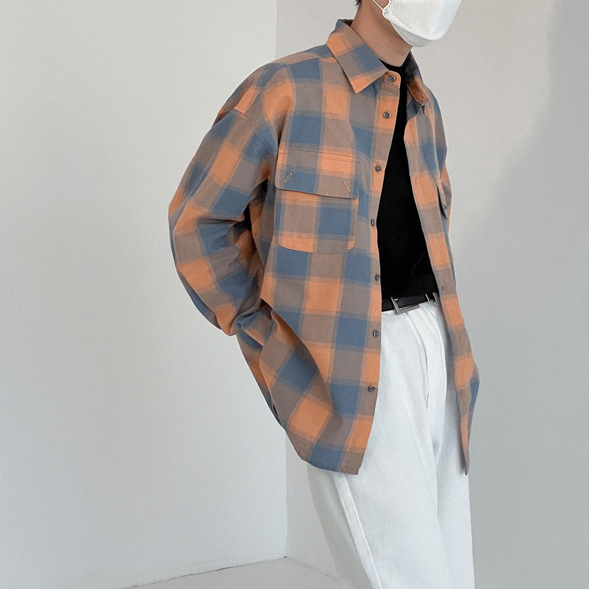 Рубашка DAZO Studio Plaid Double Pocket Shirt (2)