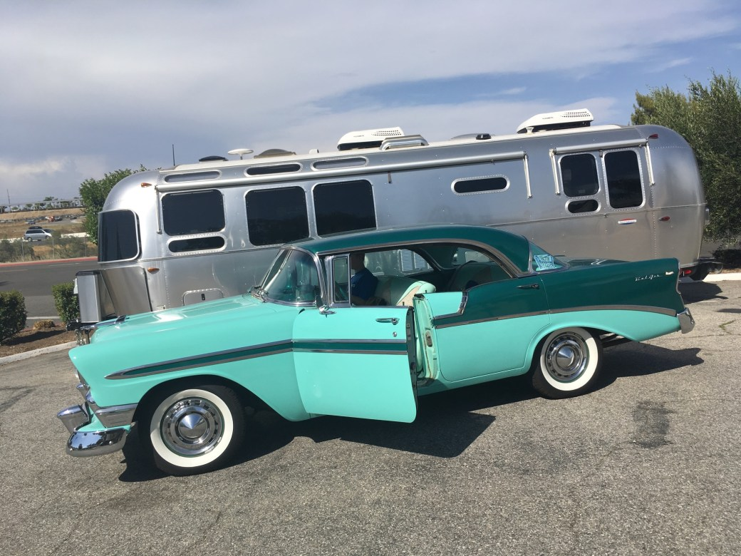 1956 Chevrolet with Airstream, Temecula (USA).