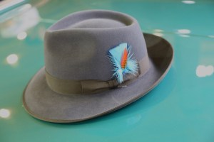 One of the several d'Luxe driving hats!