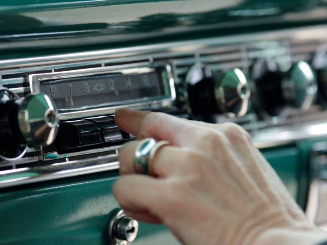 1957 Chevrolet, push button radio.
