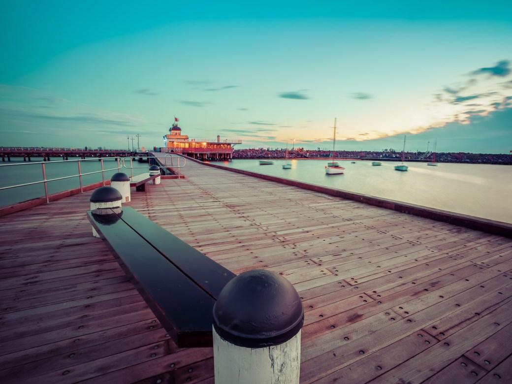 Photo stop: St. Kilda Pier.