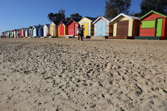 Brighton Beach Bathing Boxes.