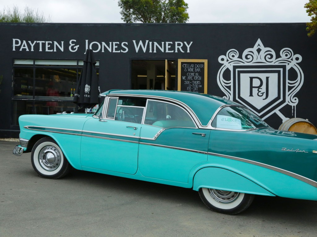 Out front at Payten & Jones Winery, Healesville.