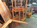 Finished tables, in the shop waiting to go back to the restaurant