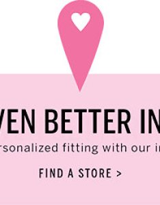 We  re even better in person nothing beats  personalized fitting our also the victoria  secret sport bra guide rh victoriassecret