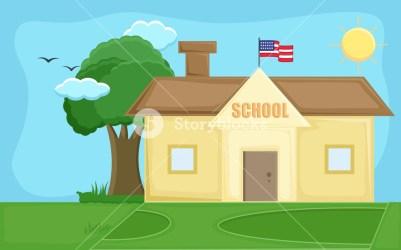 School Cartoon Background Vector Royalty Free Stock Image Storyblocks