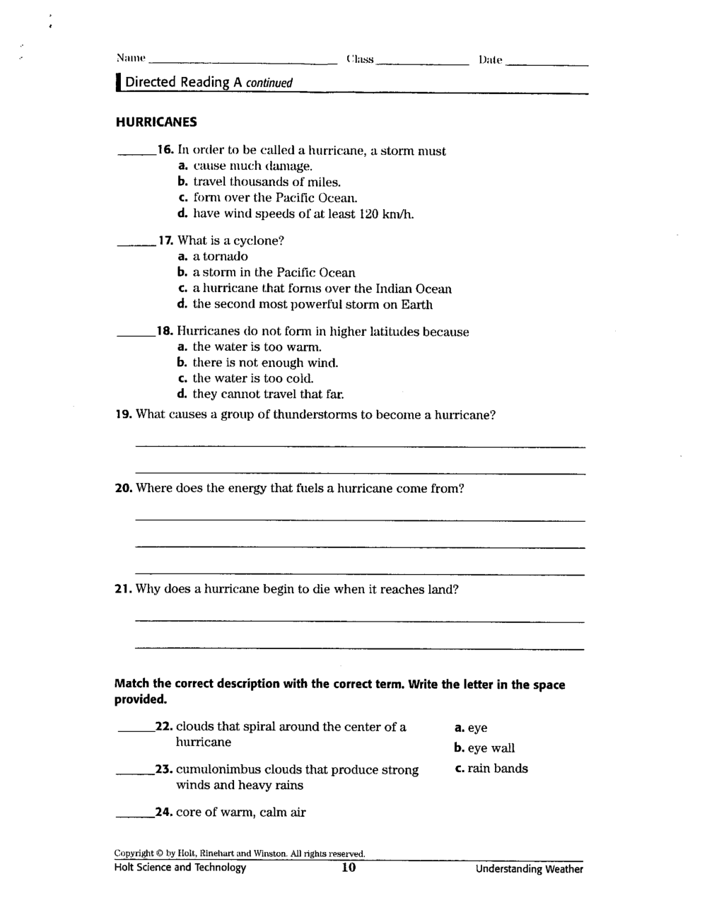 medium resolution of Severe Weather Safety Worksheets   Printable Worksheets and Activities for  Teachers