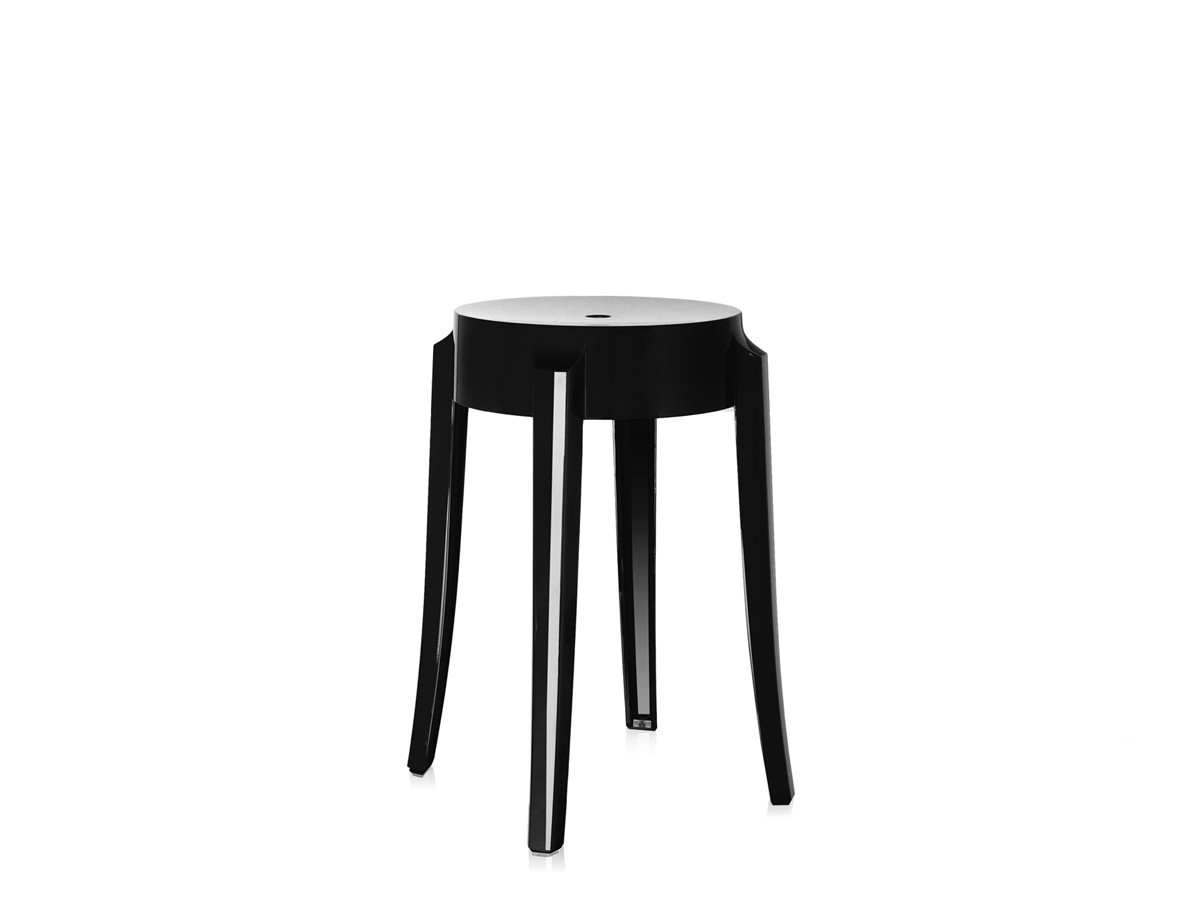 ghost bar chair air bag reviews buy the kartell charles stool black at nest co uk