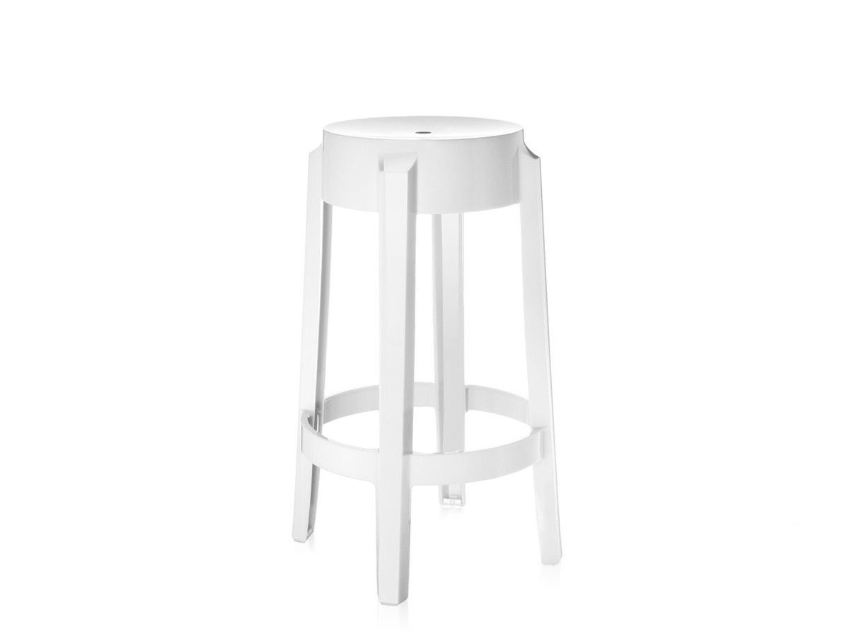 ghost bar chair anti gravity chairs sam s club buy the kartell charles stool white at nest co uk