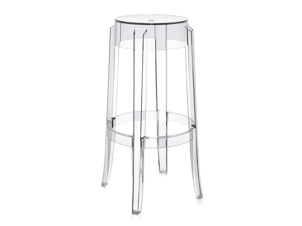 ghost chair stool bedroom and ottoman buy the kartell charles bar crystal at nest co uk