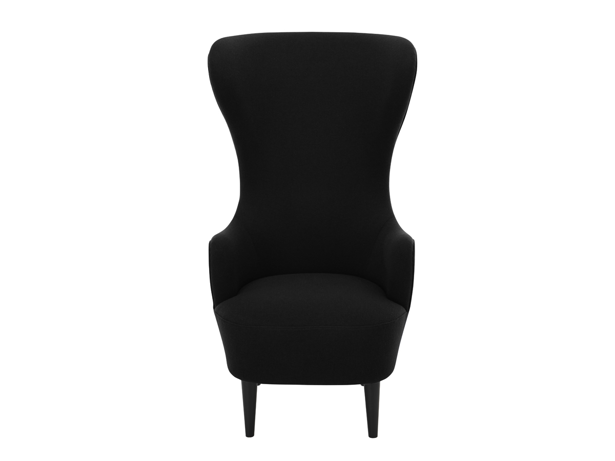 tom dixon wingback chair white rolling buy the black at nest co uk