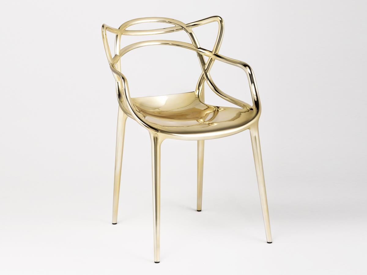Buy the Kartell Masters Chair Metallic at Nestcouk
