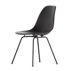 Black Chair Vinyl Material For Chairs Buy The Vitra Dsx Eames Plastic Side Base At