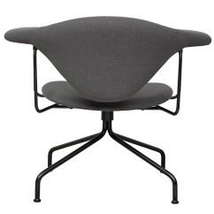 Swivel Chair Keeps Turning White Desk With Buy The Gubi Masculo Lounge Base At Nest Co Uk