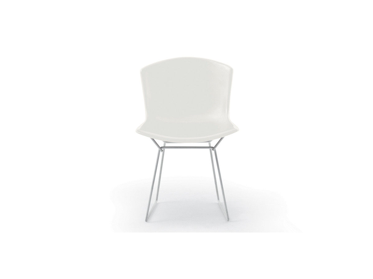 white bertoia side chair sparco office buy the knoll studio plastic