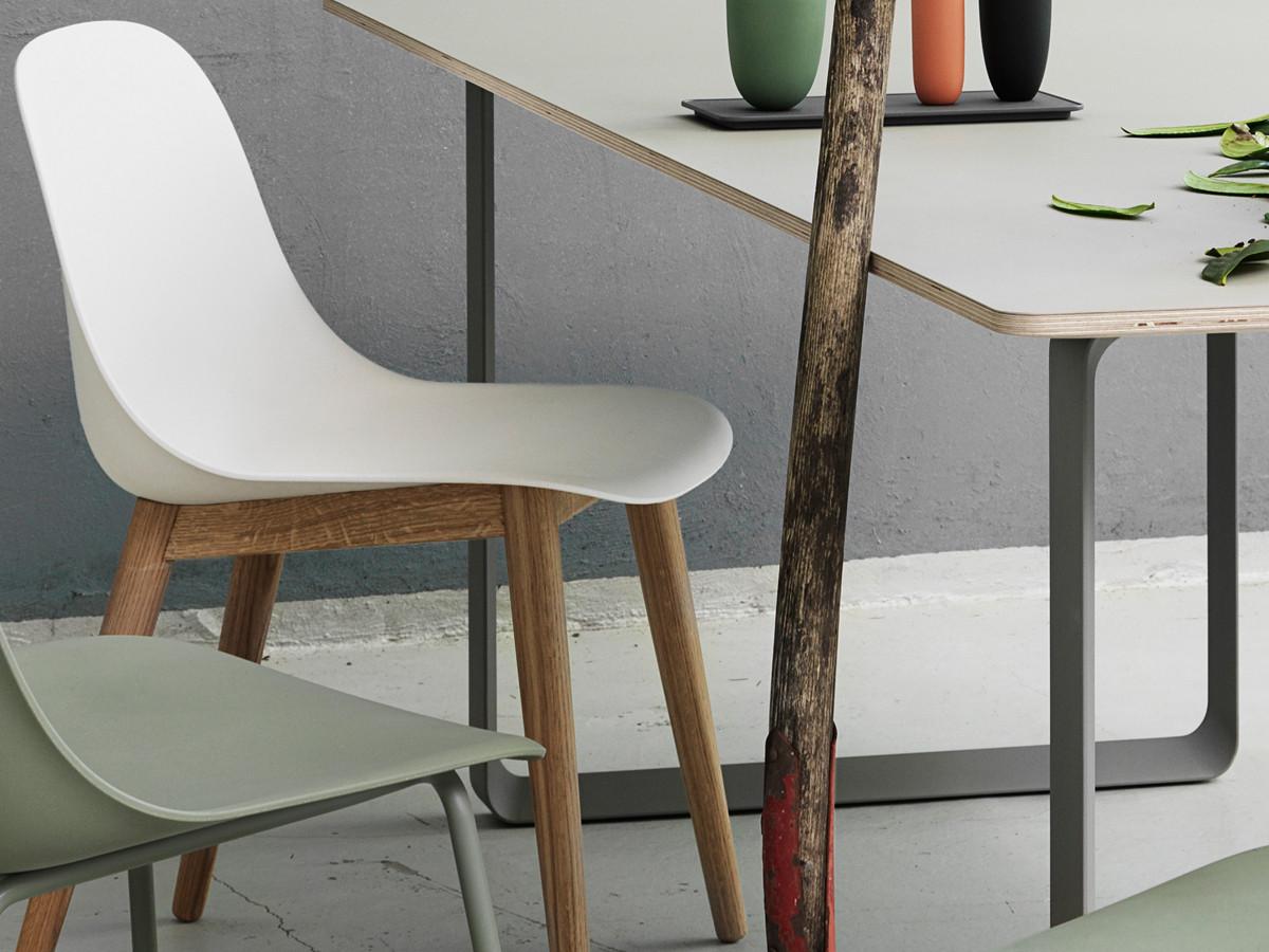 Buy the Muuto Fiber Side Chair Wood Base at Nestcouk