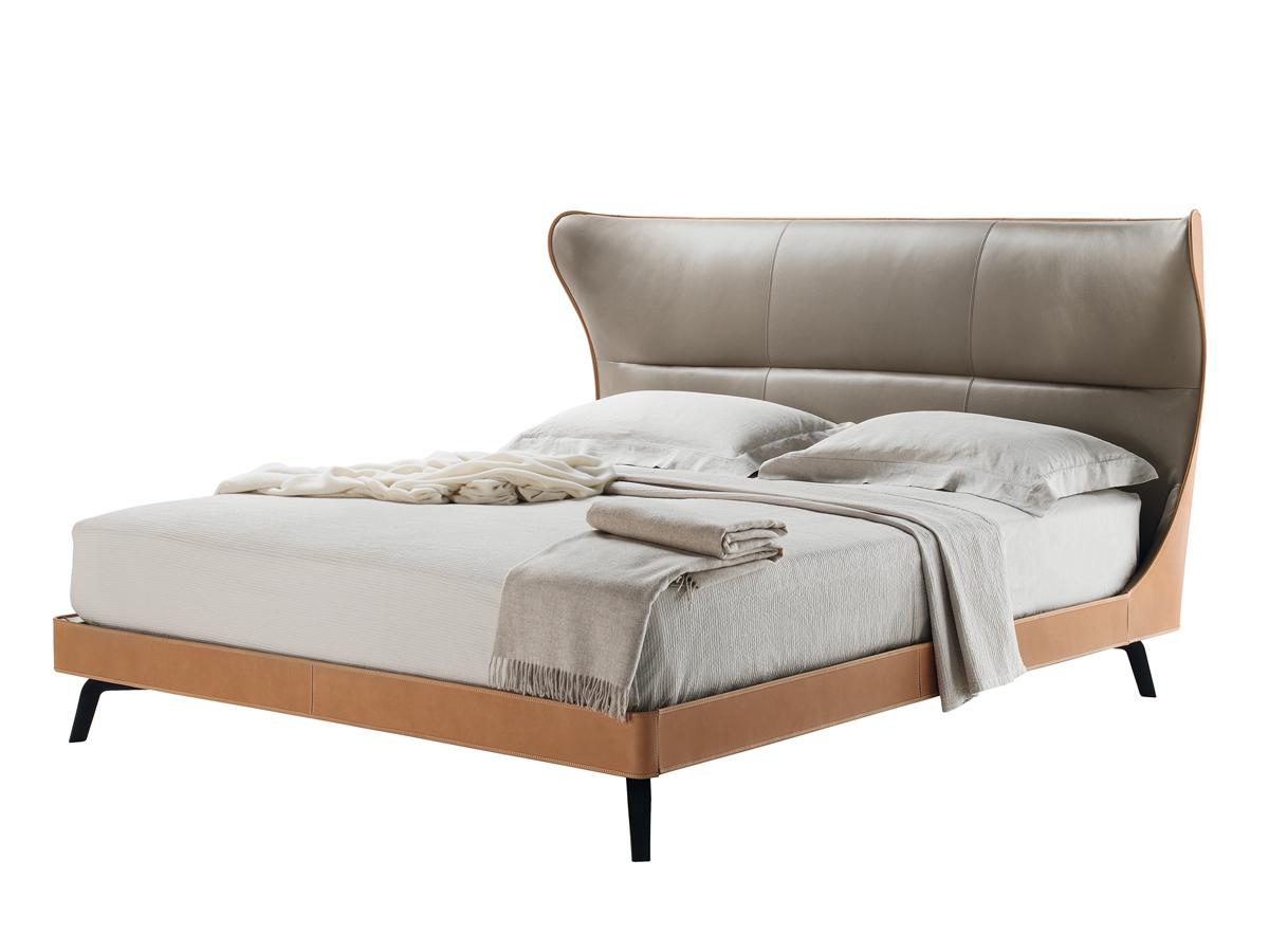 Buy the Poltrona Frau Mamy Blue Bed at Nestcouk