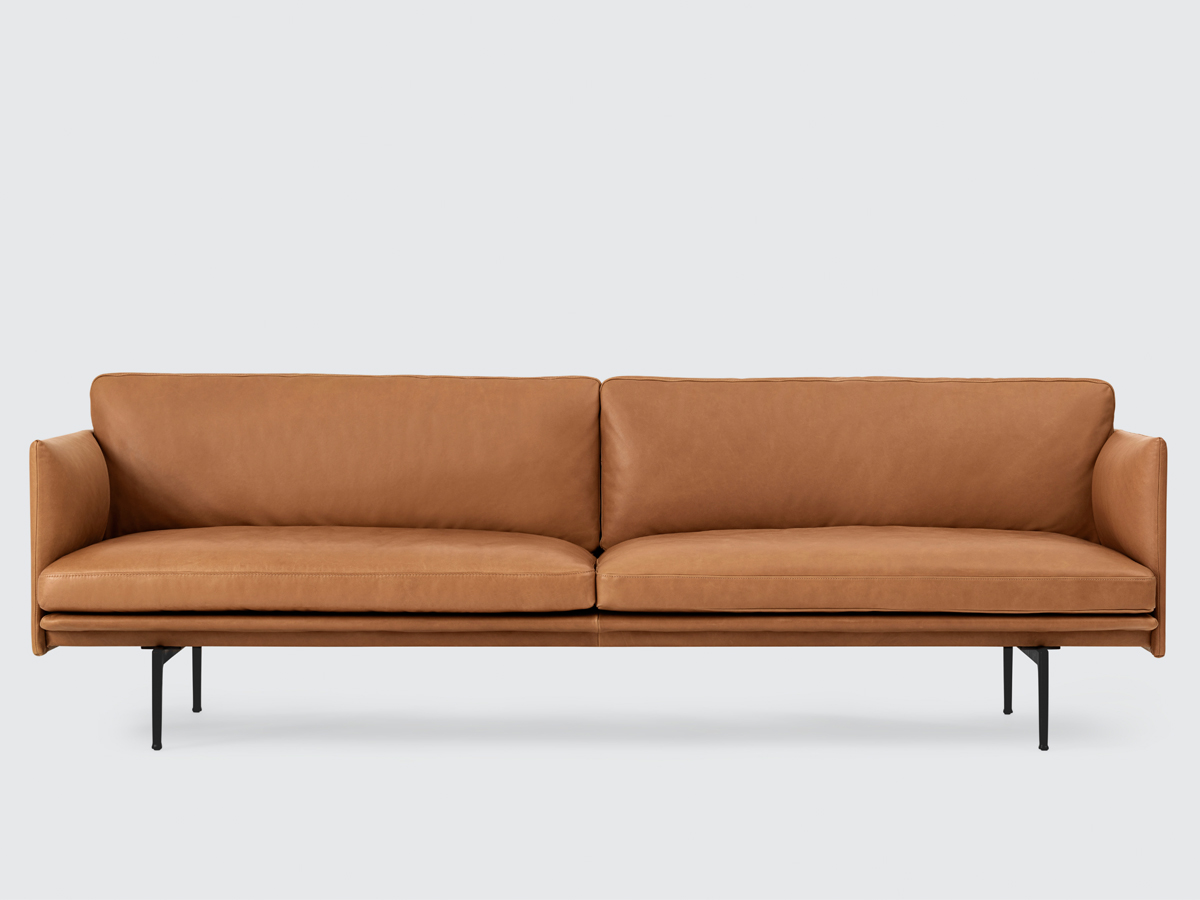 muuto sofa bed come design with low price buy the outline three seater leather at nest co uk