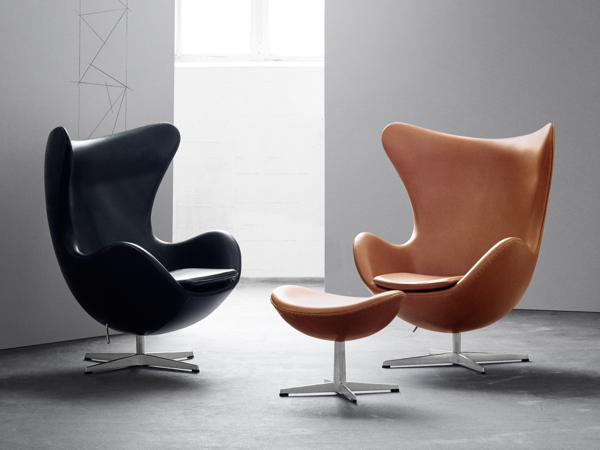 Chair Egg Buy The Fritz Hansen Egg Lounge Chair Leather At Nest Co Uk