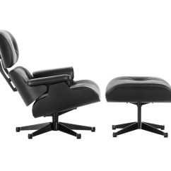 Vitra Lounge Chair Floor Folding Buy The Eames Ottoman All Black At Nest Co Uk