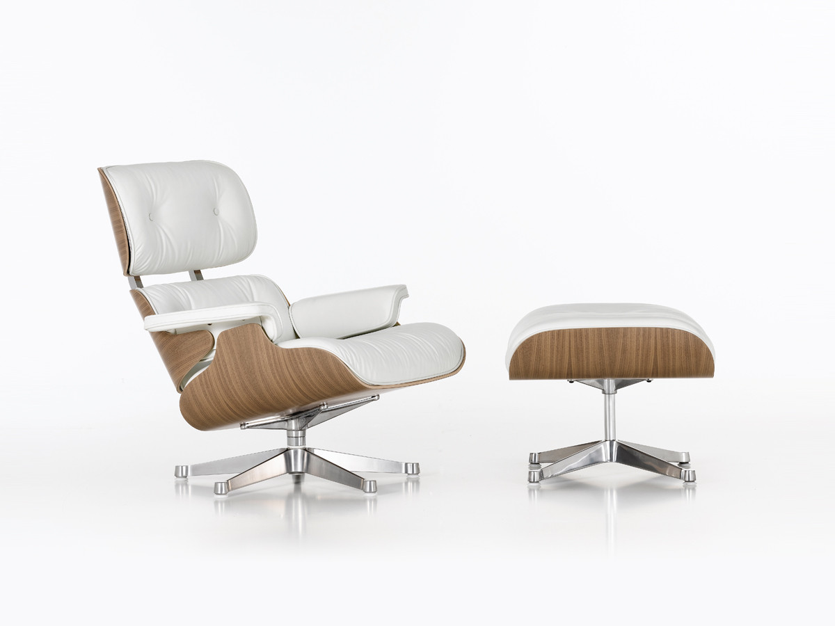 Charles Eames Lounge Chair Buy The Vitra Eames Lounge Chair And Ottoman White At Nest