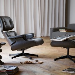 Vitra Lounge Chair Ez Hang Buy The Eames And Ottoman All Black At