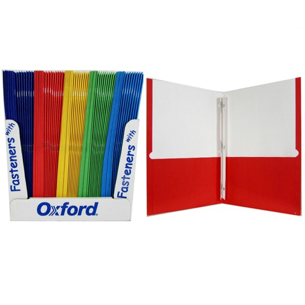 Oxford Twin Pocket Folders With Fasteners Sku