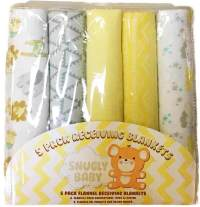 Wholesale Animal Baby Receiving Blankets - 5-Pack (SKU ...
