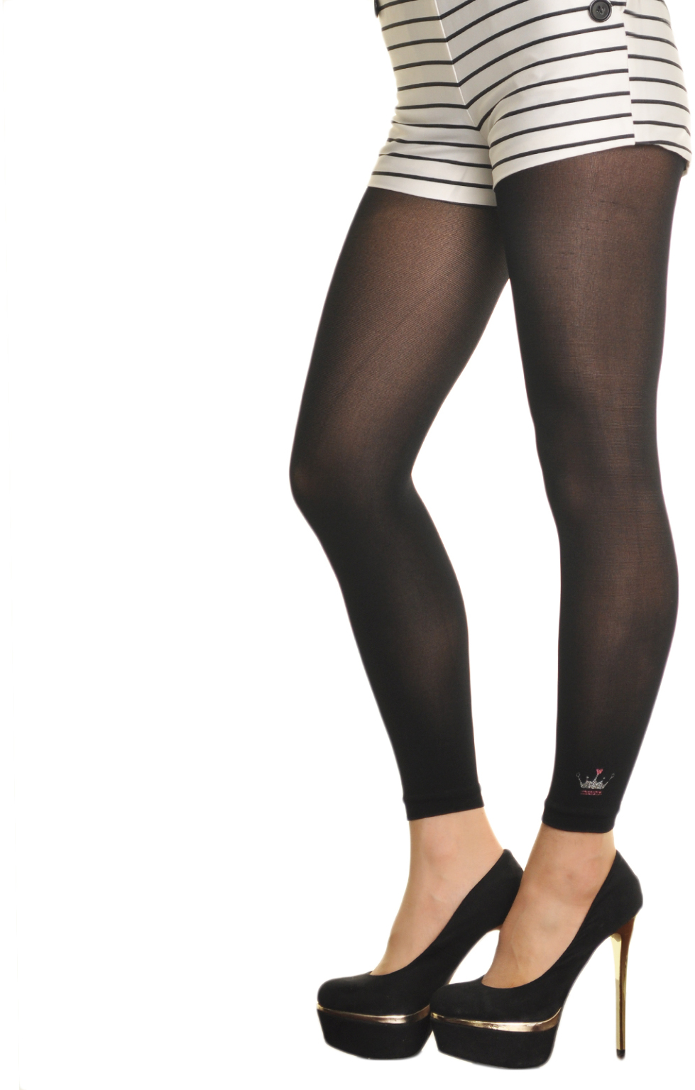Wholesale Footless Tights with Design Accent (SKU 1864586) DollarDays