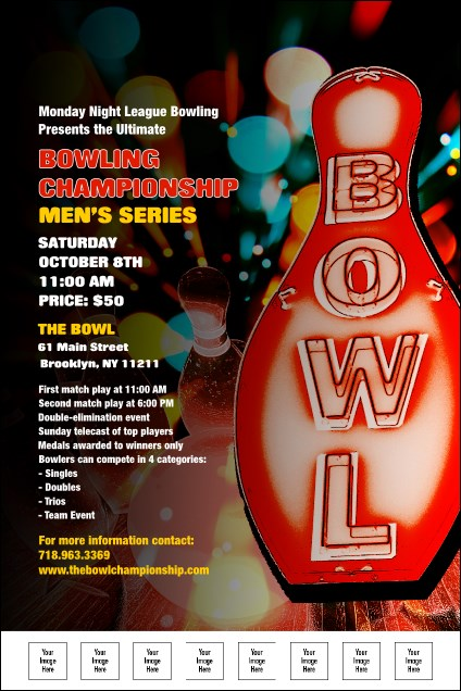 Bowling Poster With Image Upload