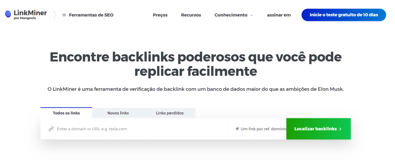 Ferramentas para pesquisar Backlinks