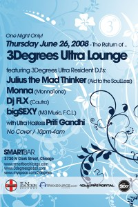 6/26 - FLX & 3 Degrees @ Smartbar - Chicago