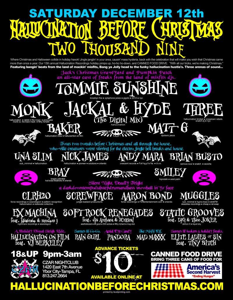 12/12 - Hallucination Before Christmas @ CZAR NIGHTCLUB - Tampa ...