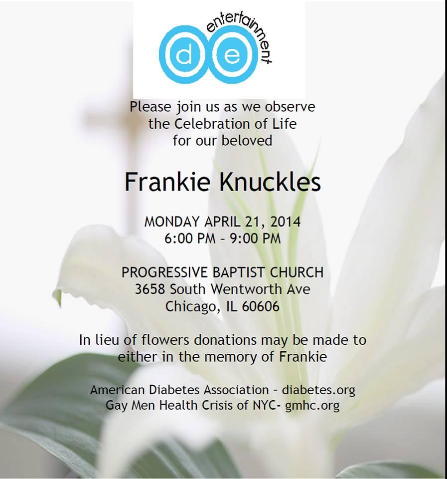 Frankie Knuckles Service