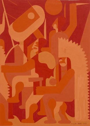 Hilaire Hiler, War Dance (Study in Reds, 1933), 1933, Dallas Museum of Art, General Acquisitions Fund