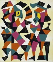 Carlos Mérida, Dancers of Tlaxcala (Danzantes de Tlaxcala), 1951, Dallas Museum of Art, Dallas Art Association Purchase
