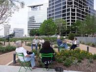 Group sketching at Klyde Warren Park