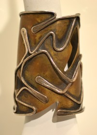 """Baker"" Bracelet, circa 1959, Art Smith, Brass and silver, Lent from the collection of Deedie P. Rose"
