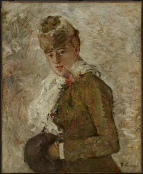 Berthe Morisot, Winter (Woman with a Muff), 1880, Dallas Museum of Art, gift of the Meadows Foundation, Incorporated