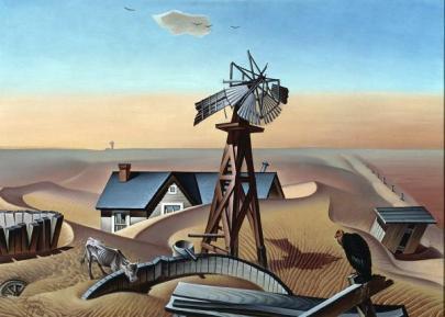 Drouth Stricken Area, Alexander Hogue, 1934, Dallas Museum of Art, Dallas Art Association Purchase, 1945.6
