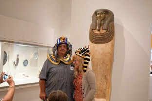 Meaningful Moments participant Alan and McDermott Intern Emily giving off some seriously pharaonic feels!