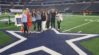Standing on the Cowboy's star at AT&T Stadium