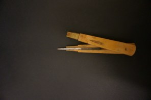 Aisuki: carving tool used to carve details into woodblocks.