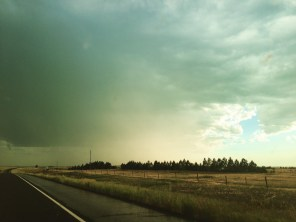 Distant rainstorm, Wyoming