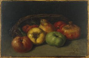 Gustave Courbet, Still Life with Apples, Pear, and Pomegranates, 1871 or 1872, Dallas Museum of Art, The Wendy and Emery Reves Collection