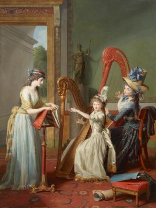 Jean Antoine Theodore Giroust, The Harp Lesson, 1791, Dallas Museum of Art, Foundation for the Arts Collection, Mrs. John B. O'Hara Fund