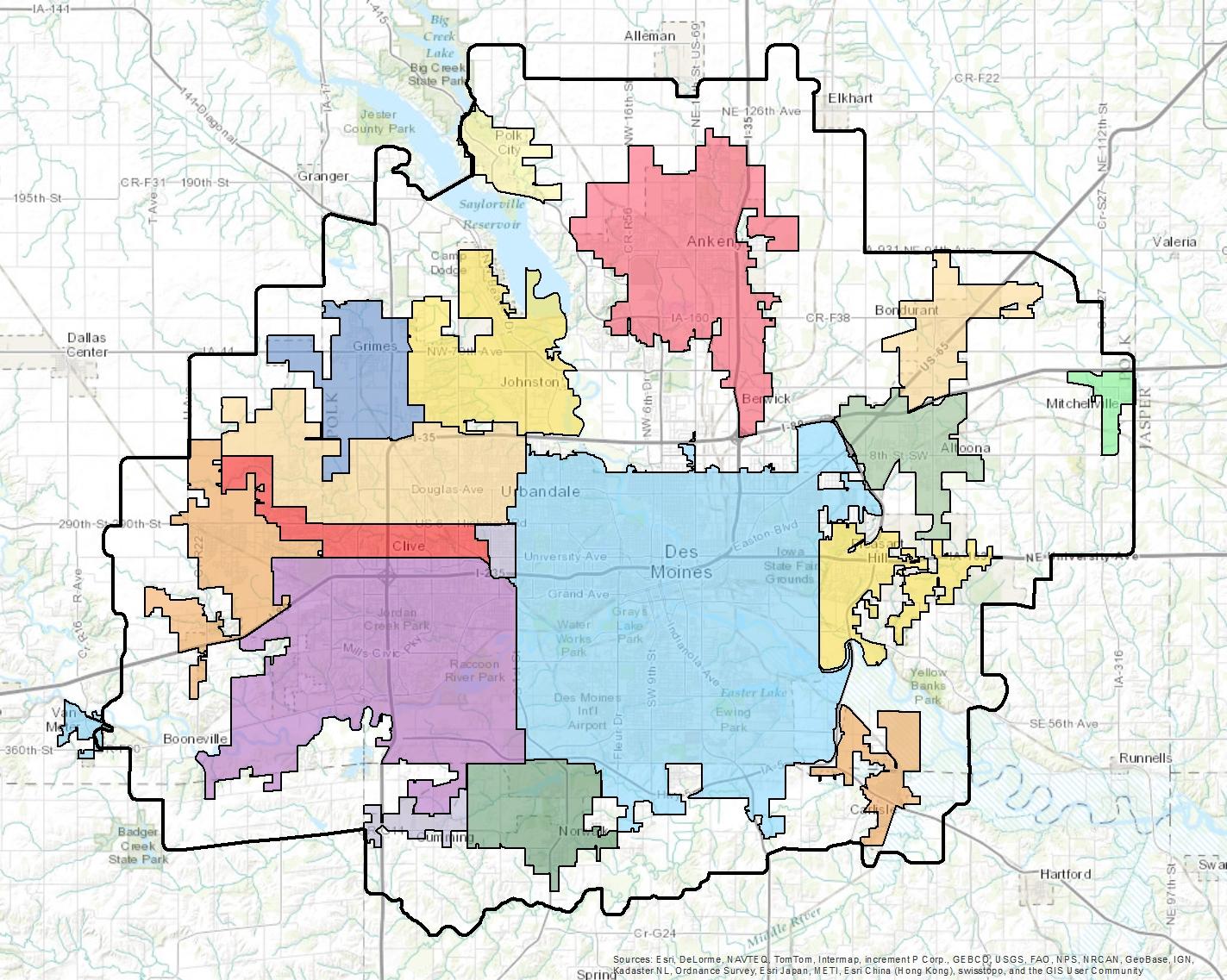 Maps Des Moines Area MPO