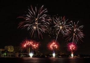 Fireworks over Lake Monona