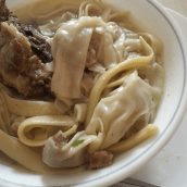 Homemade molo soup