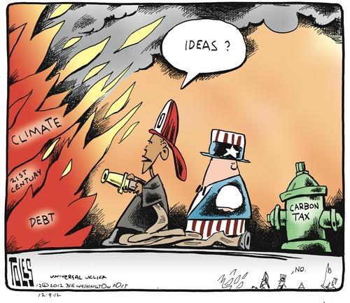 Tom Toles - Carbon Tax - December 2012